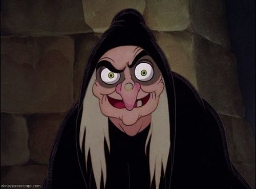 """The Evil Queen's alter-ego The Hag, Disney's """"Snow White and the Seven Dwarfs"""""""