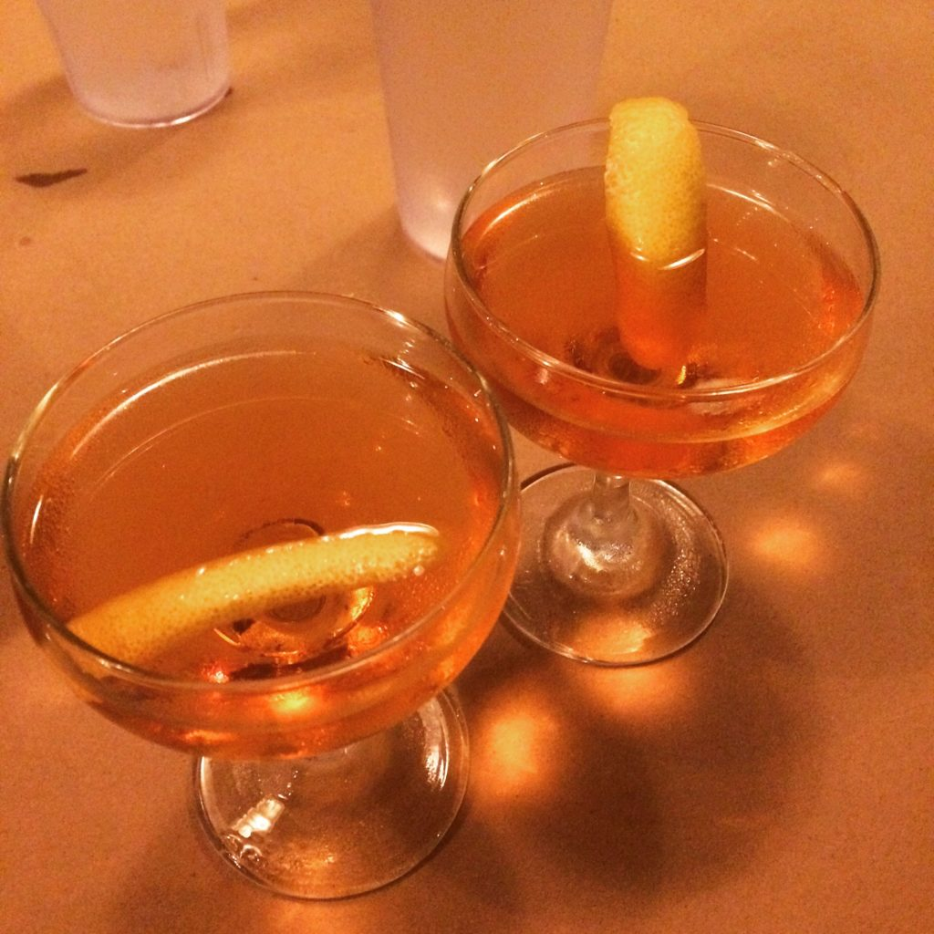 Kat and Megan's FlameCon sazeracs!
