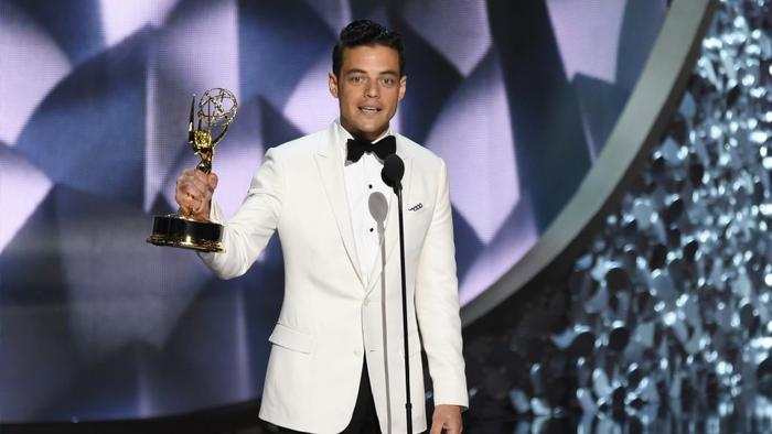 """Rami Malek won the Emmy for lead actor in a drama for his turn on """"Mr. Robot."""" (Chris Pizzello/Invision)"""