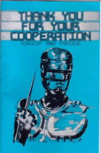 Thanks for Your Cooperation Robocop fanzine cover by Eric Gordon