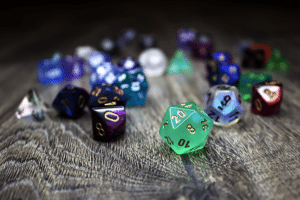 assortment of dice - photo credit: Samantha Cantor @SamanthaCantor
