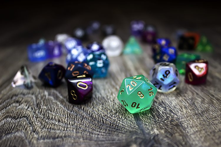 assortment of dice - photo credit: Samantha Cantor @SamanthaCantor