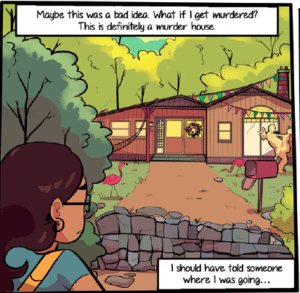 Finding Molly - The Hippie House. Image courtesy Emet Comics.