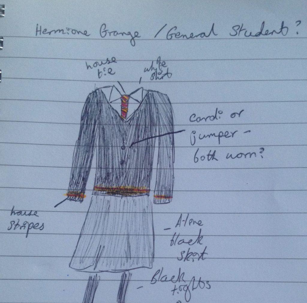 Rosie Clarke_Harry Potter stealth cosplay sketch