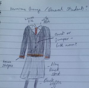 Rosie Clarke_Harry Potter stealth cosplay sketch