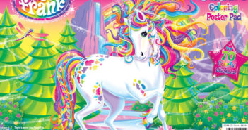 Lisa Frank jumbo sticker book cover