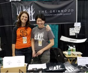 "Danielle Domurat, ""Cat Clash"" creator, and Angela Wu, ""Grimwood"" creator and Part Time Chaos illustrator"