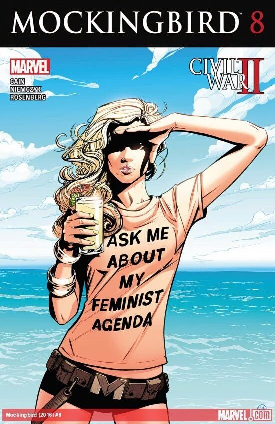 Joelle Jones cover for Mockingbird #12, Marvel Comics 2016