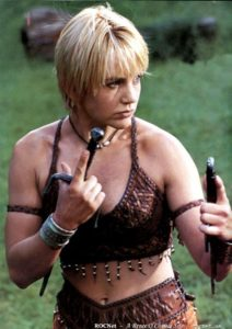 "Renée O'Connor as Gabrielle, ""Xena: Warrior Princess"""