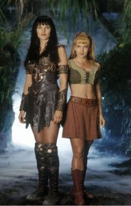 """Lucy Lawless and Renée O'Connor as Xena and Gabrielle, """"Xena: Warrior Princess"""""""