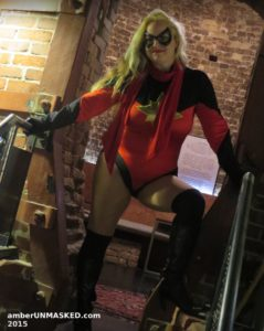 Amber Love cosplaying as Ms. Marvel