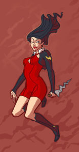 Jemma Saulme's Vampirella design