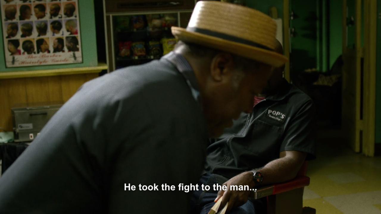 He took the fight to the man, but you know, the black man, Luke. Definitely, definitely the black man.