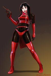 Carly Monardo's Vampirella design