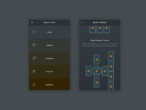 GoldenThread Tarot app screenshot via GoldenThread Tarot blog