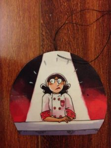 Rosie Knight_comic creation DIY holiday ornaments