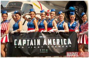 Captain America USO girls promo