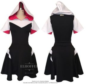 Punk Hooded Dress by Elhoffer Design from Elhoffer Design