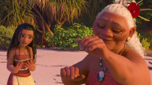 Moana and her grandmother Tala