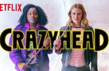 Netflix's Crazyhead. Susan Wokoma, Cara Theobold and Tony Curran. Written by Howard Overman. TV. British TV.