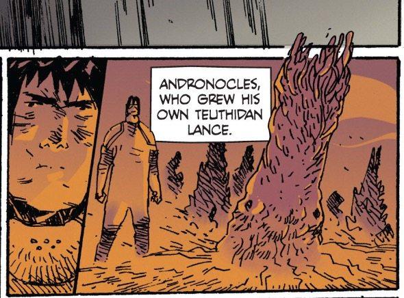 John andronocles, teuthidian lance. Prophet, Image Comics, 2012