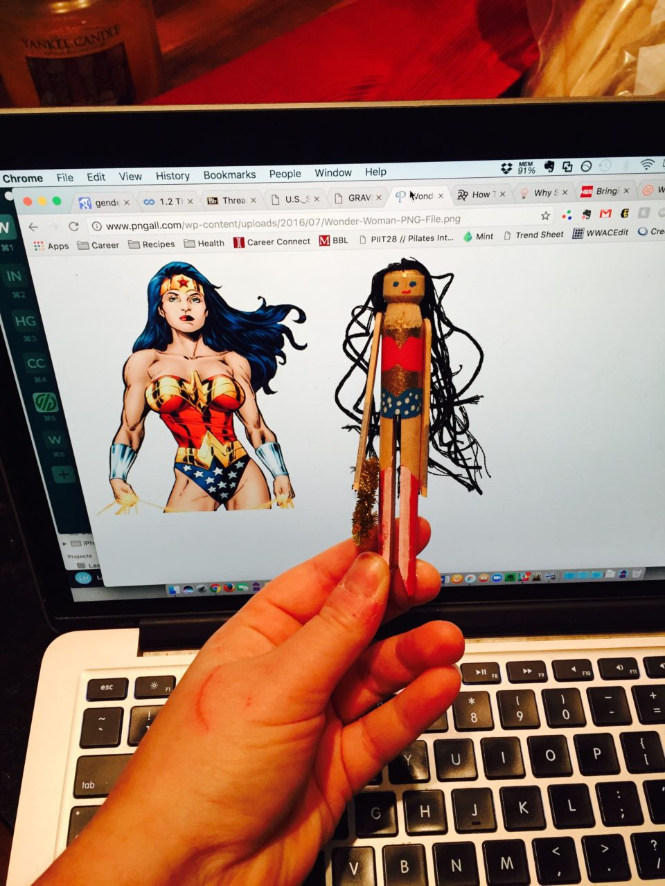 Craft Your Comics: Wonder Woman Clothespin Ornaments