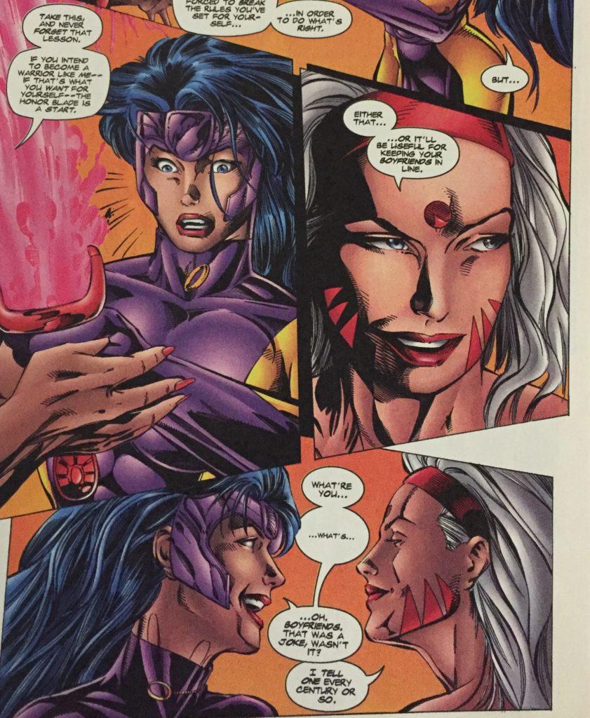 Zealot talks to her friend