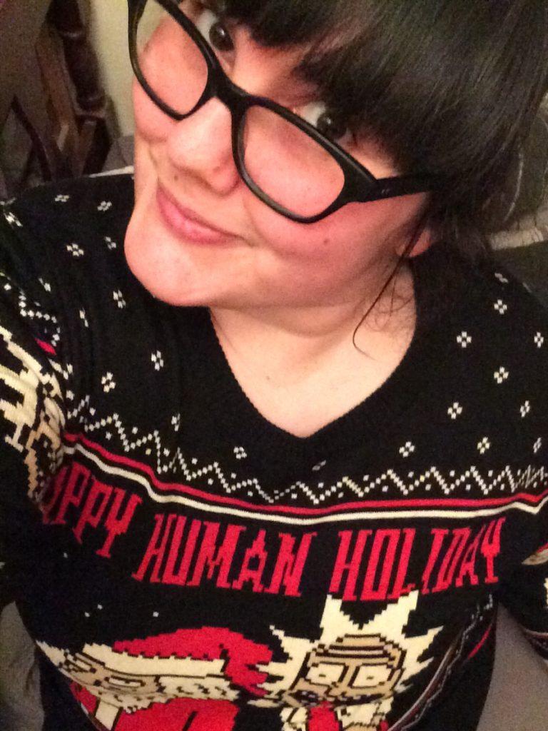Nerdy t-shirts christmas jumper rick & morty