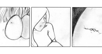 The final panels from Leda and the Swan. Image courtesy Sophia Wiedeman.