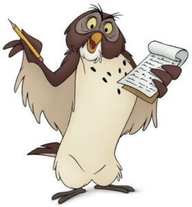 Owl. Winnie-the-Pooh. AA Milne. Disney.
