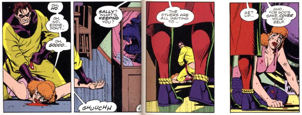 The Comedian rapes the first Silk Spectre, Watchmen
