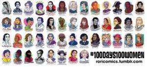 100 Days 100 Women by roricomics.tumblr.com