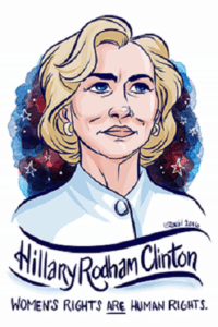 Portrait of American politician Hillary Rodham Clinton by Rori