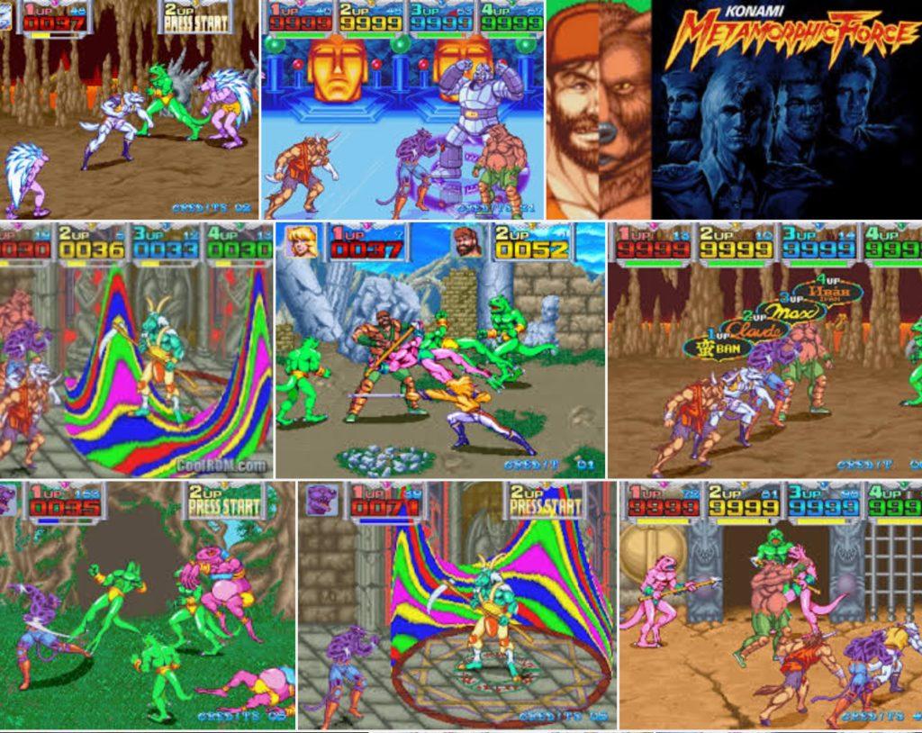 Metamorphic Force, Konami, arcade, 1993