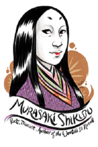 Portrait of the world's first-ever novelist Murasaki Shikibu by Rori