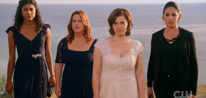Rachel Bloom, Donna Lynne Champlin, Vella Lovell, Gabrielle Ruiz in Crazy Ex-Girlfriend The CW 2017
