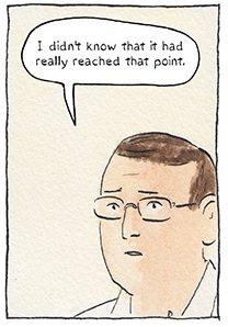Sam Malkandi image via Sarah Glidden and Drawn + Quarterly