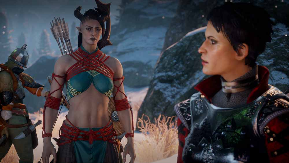 Qunari Inquisitor and Cassandra Pentaghast/Dragon Age: Inquisition/Bioware/2014
