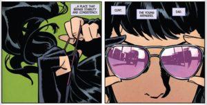Kate Bishop puts up her hair,Hawkeye #1, marvel comics
