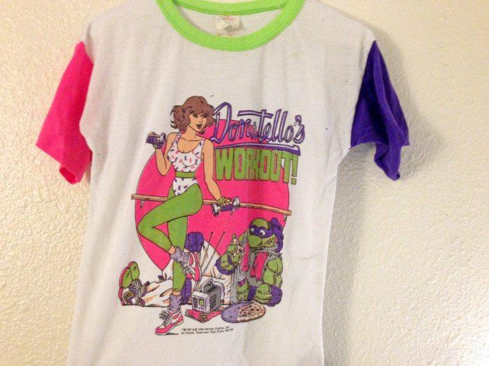 top ten t-shirts Tmnt April O'Neil workout t-shirt
