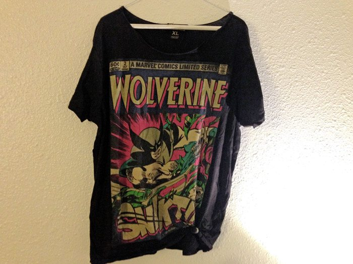 top ten t-shirts Marvel comics wolverine t-shirt
