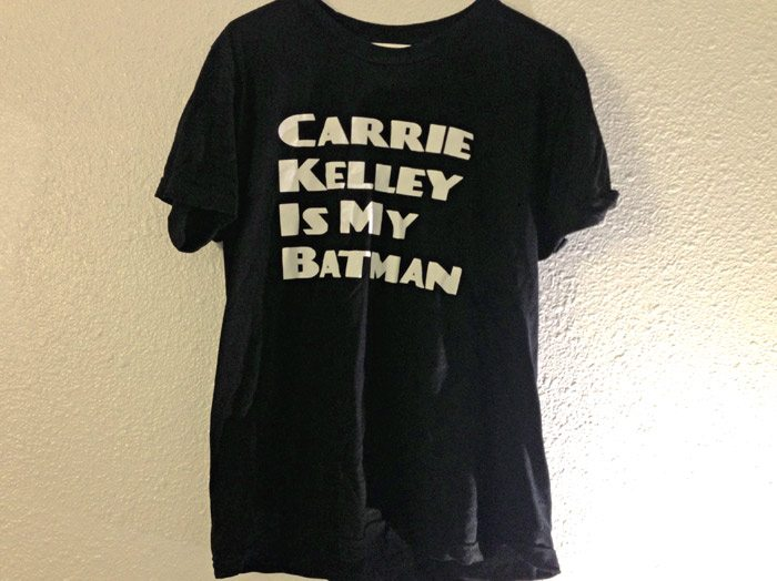 top ten t-shirts Carrie Kelly batman t-shirt