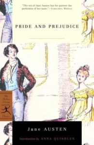 History of Fanfiction Pride and Prejudice, Jane Austen, Modern Classic Library, 2000