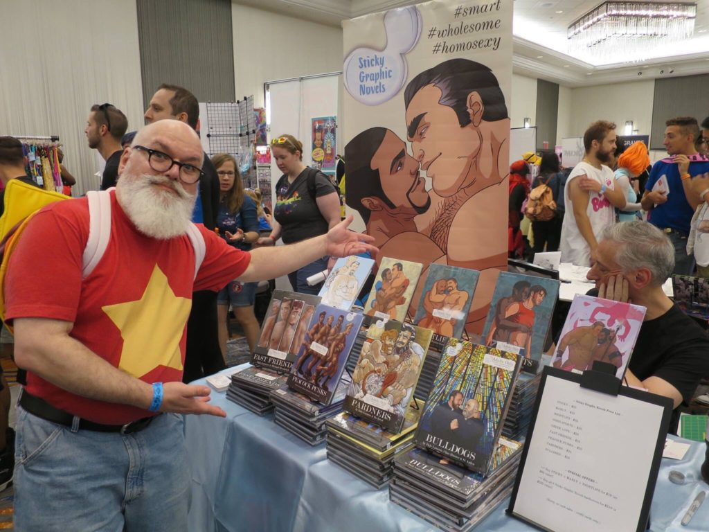 Dale Lazarov & table at convention