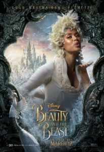 Gugu Mbatha-Raw as Plumette the Featherduster. Disney.