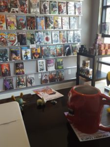 New Comic Book wall in Visionary Comics