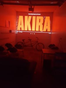Akira Playing at Saturday Movie Night in the lounge