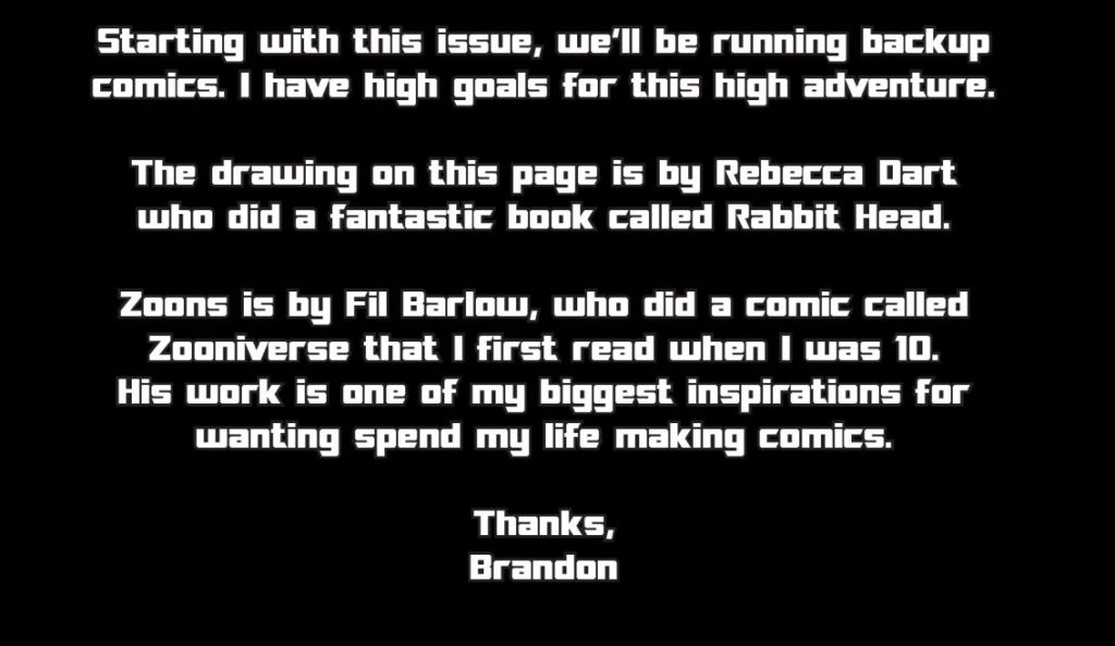 Brandon Graham's Zoonverse intro from Prophet #2