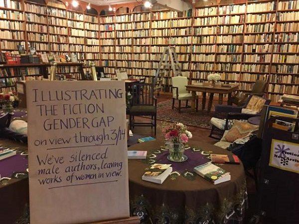 Loganberry Books fiction section. Photo via Heat Sreet.