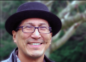 Portrait of Ojibway author, Richard Wagamese, taken from a CBC article about his death